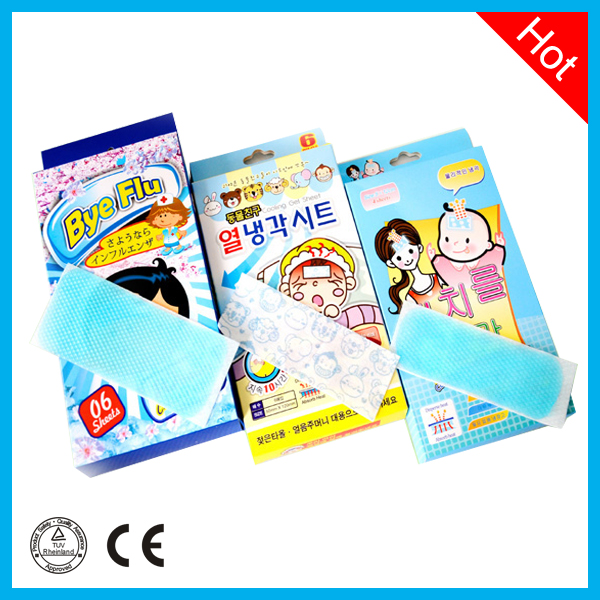 Baby fever cooling gel sheet for cooling relief
