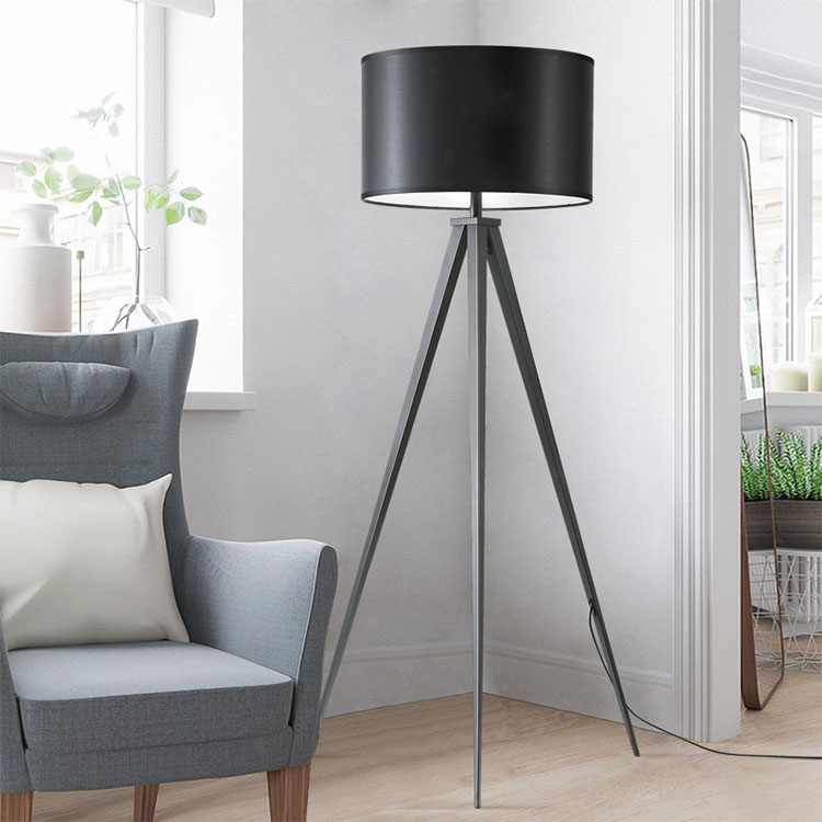 Black Tripod Floor LampMetal Tripod Floor LampMid Century Modern