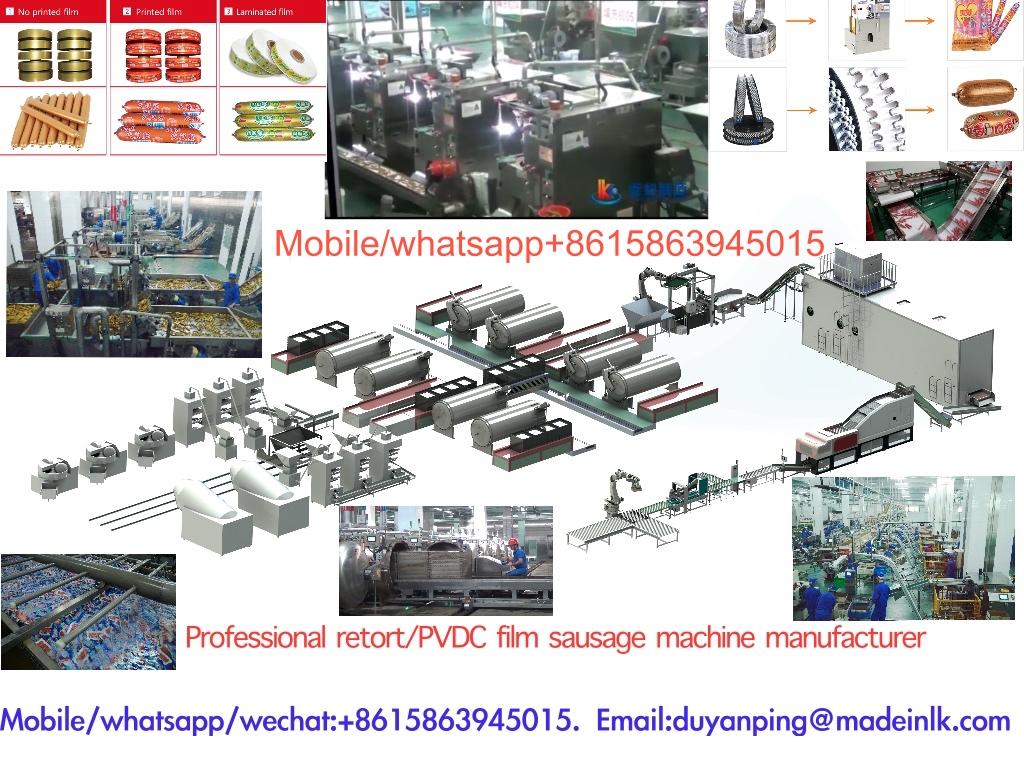 PVDC film retort sausage processing line ham sausage making machineMobileWhatsappwechat8615863945015