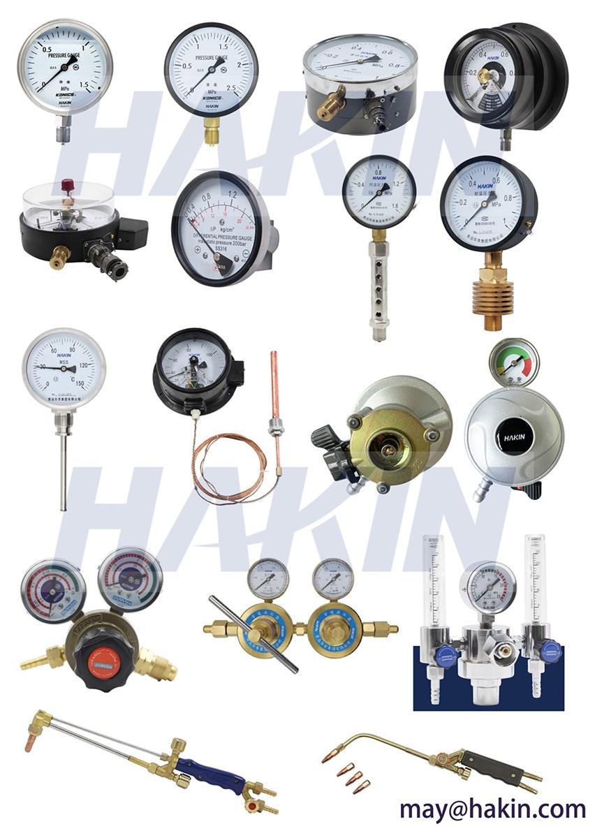 General Pressure Gauge for O2 CO2 Acetylene Propane Nitrogen Argon Gas Liquid Measurement GNPTBSPTBspf12 38 18 14