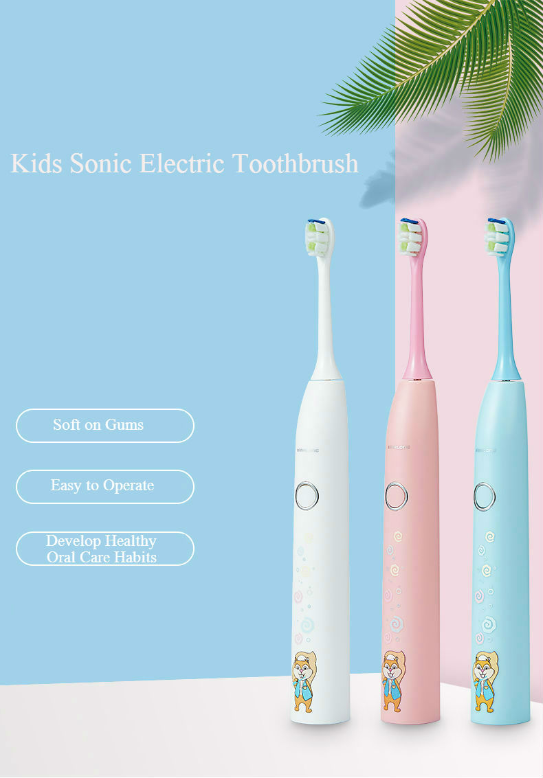 Kids Oral Care Smart Electric Toothbrush Auto Children Toothbrush with Travel Case