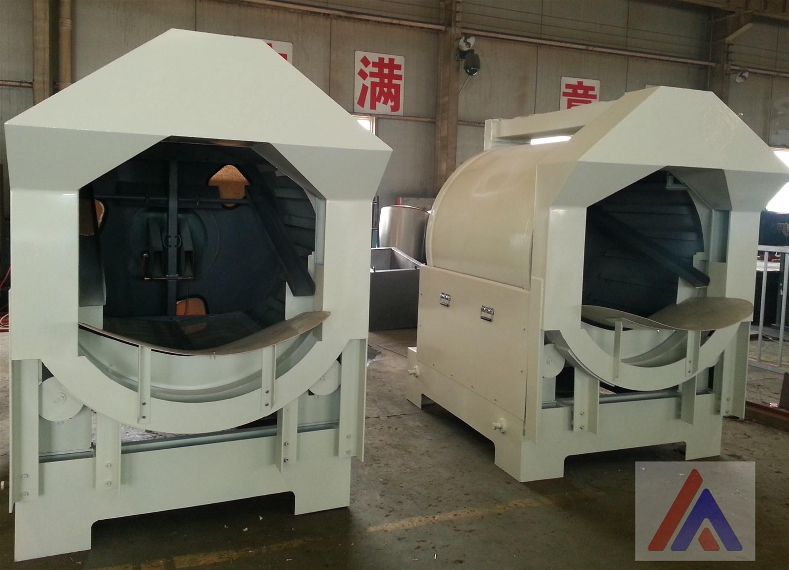 Rotary Rainfall sander for investment casting line