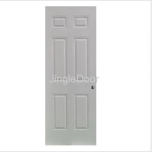 6 panel steel door with PU China