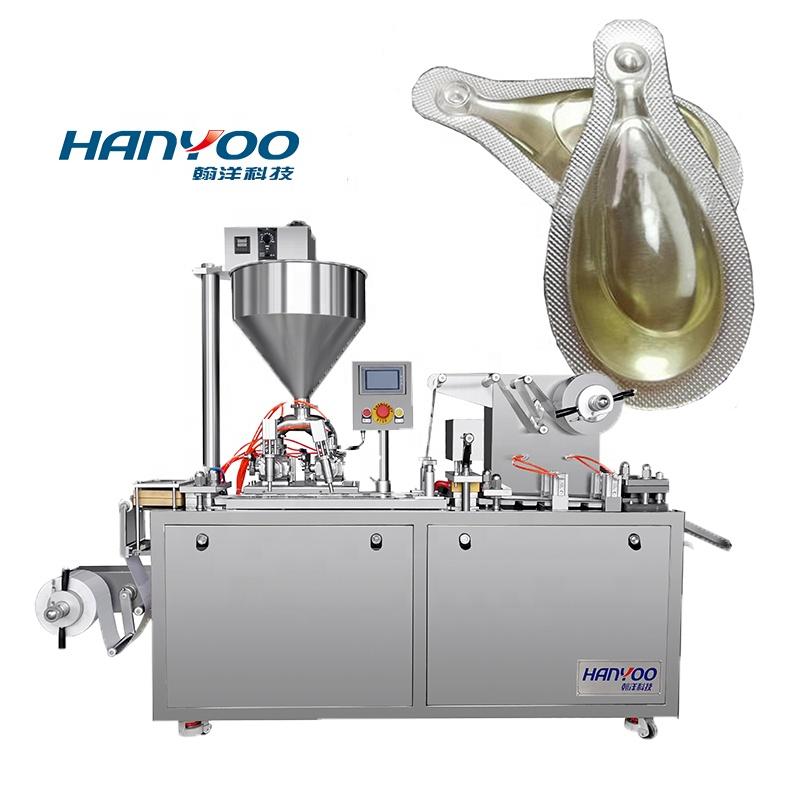 DPP120Y Flat Plate Alupvc bee honey jam olive oil cheese perfume Liquid Blister Packing Machine