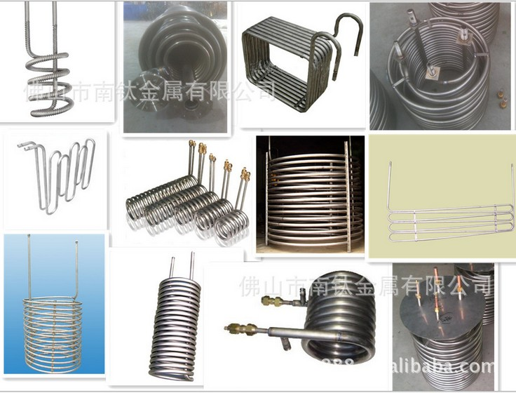 Highefficiency coiltitanium corrugated tube heat exchanger