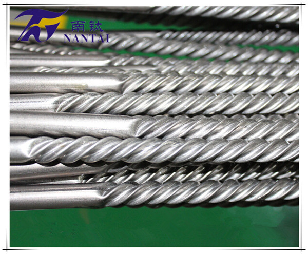 Titanium corrugated tube 1 Rare material 2 High efficiently tube 3 Strong anticorrosion 4 Beautiful function