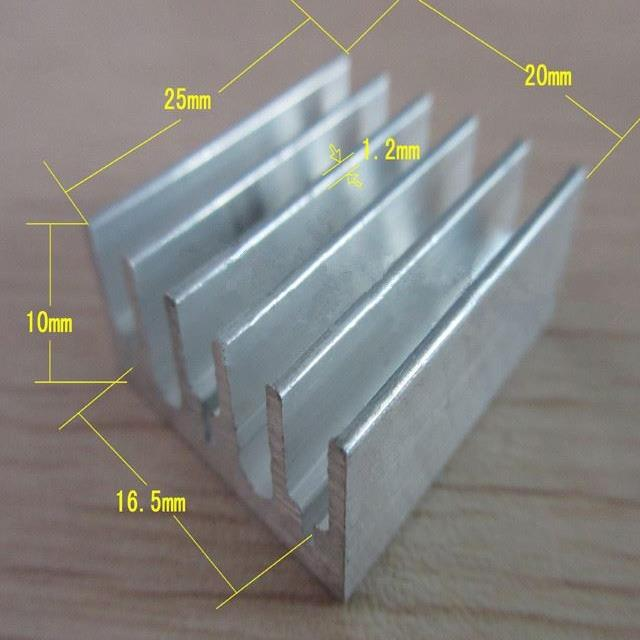 Aluminum alloy 7805 heat sink 231525mm exclusviely for audion triode To220 radiator