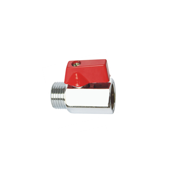 1812 34 1 inch Forged Brass Mini Ball valve Chrome Plated with FXF or FxM Thread Plastic Aluminium butterfly Hand