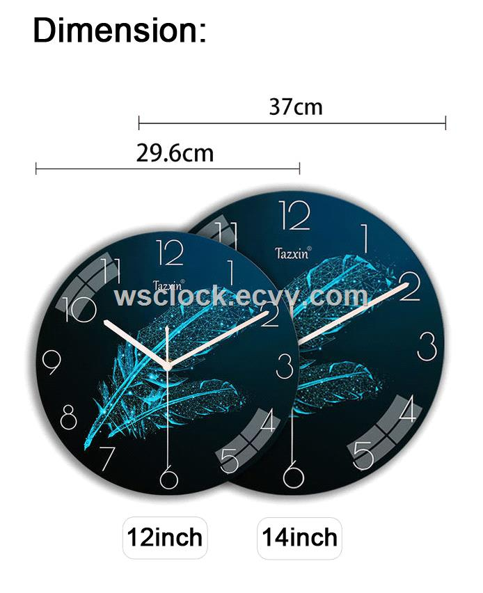 12 Inch Modern design Wall Clock for Living Room Decor