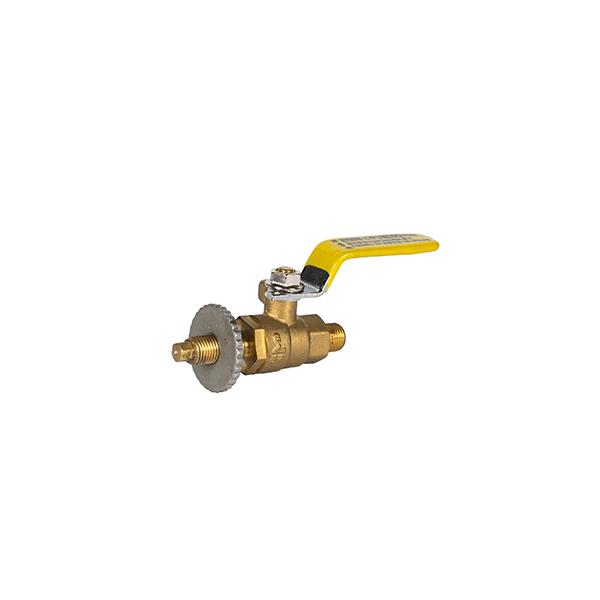 Gas valve threadedheadwithbaffle