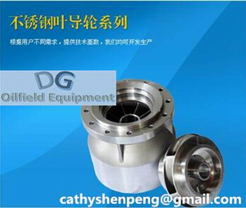 impeller and diffuser for multistage centrifugal pump in electric submersible pumping system