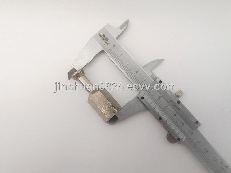 Diamond back bolt drill bit is used for stone drilling and dry hanging