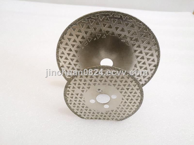 Electroplated diamond gypsophila saw blade for cutting marble