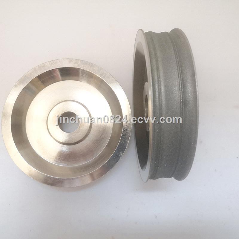 Polishing Gem Amber with Diamond Wheel