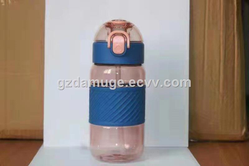 School children bpa free plastic water bottle straw kids drink bottles leak proof