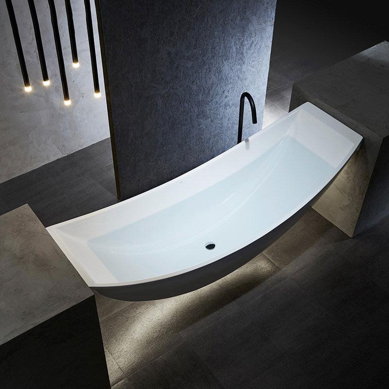 New Unique Patented Design Freestanding Acrylic Floating Vessel Hammock Bathtub