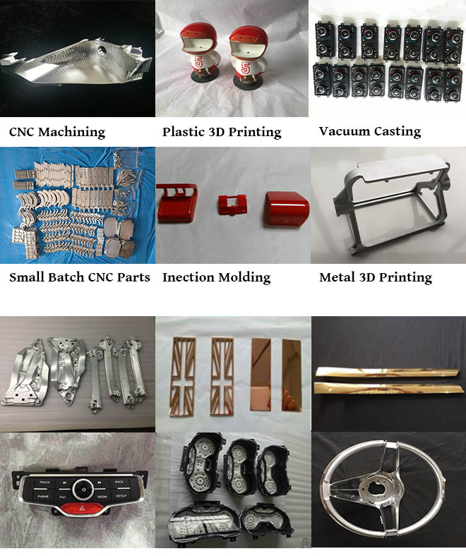 Custom CNC metal partsprototypes with 5axis machining