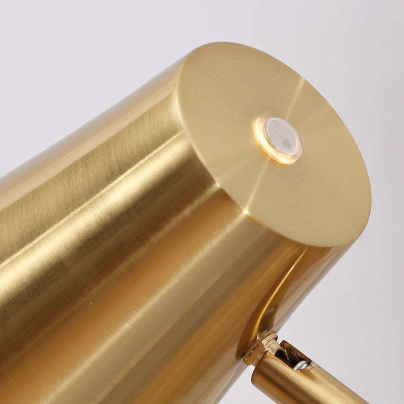 Arc Metal Floor Lamp Height AdjustableAntique Brass FinishTouch Dimmable SwitchLED Light