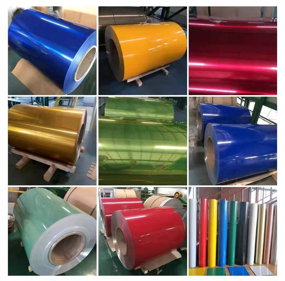 Roller coated color coated aluminum coil plate aluminum magnesium manganese tile antique metal tile