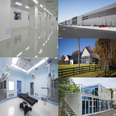 CE Certified Clean Room Silicon Rock Sandwich Panels for Epidemic Precaution Facilities