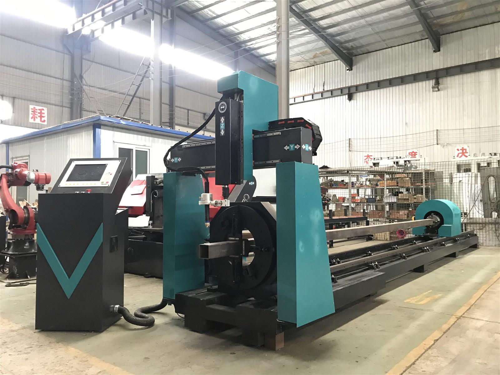 2021 hot sale 5 axis square pipe round tube cutting plasma cutting machine