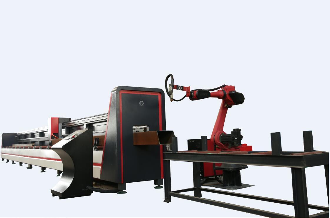 thick round tube pipe metal cutting machine robot arm plasma h beam cutting machine