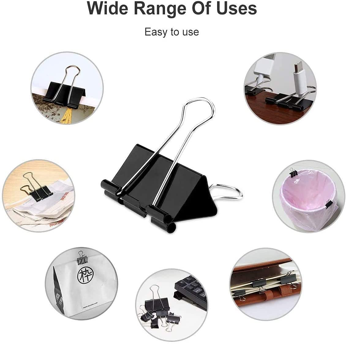 Hot sale office and school binding supplies stationery custom package metal Paper Binder Clips