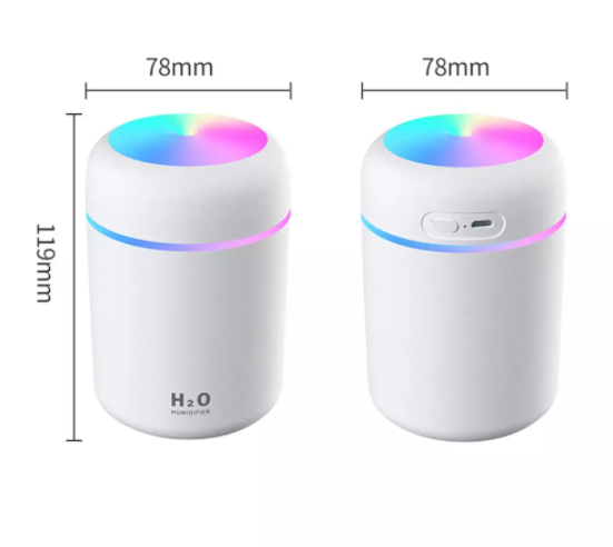 300ml Air Humidifier USB Ultrasonic Aroma Essential Oil Diffuser Romantic Soft Light Humidifier Mini