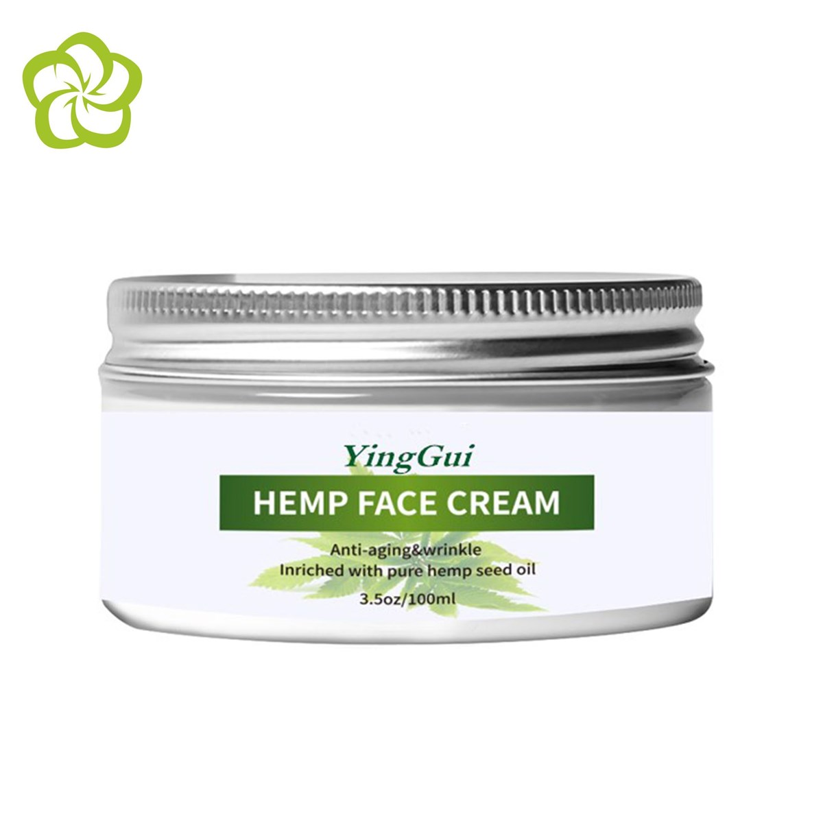 Private Label Skin Care moisturizing antiaging Quickly absorbs hemp face cream