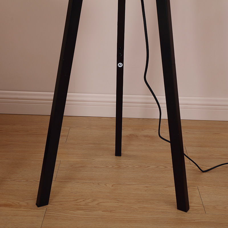 Dimmable LED LightModern Solid Wood Tripod Floor LampTall Free Standing Lamp for Bedroom Office
