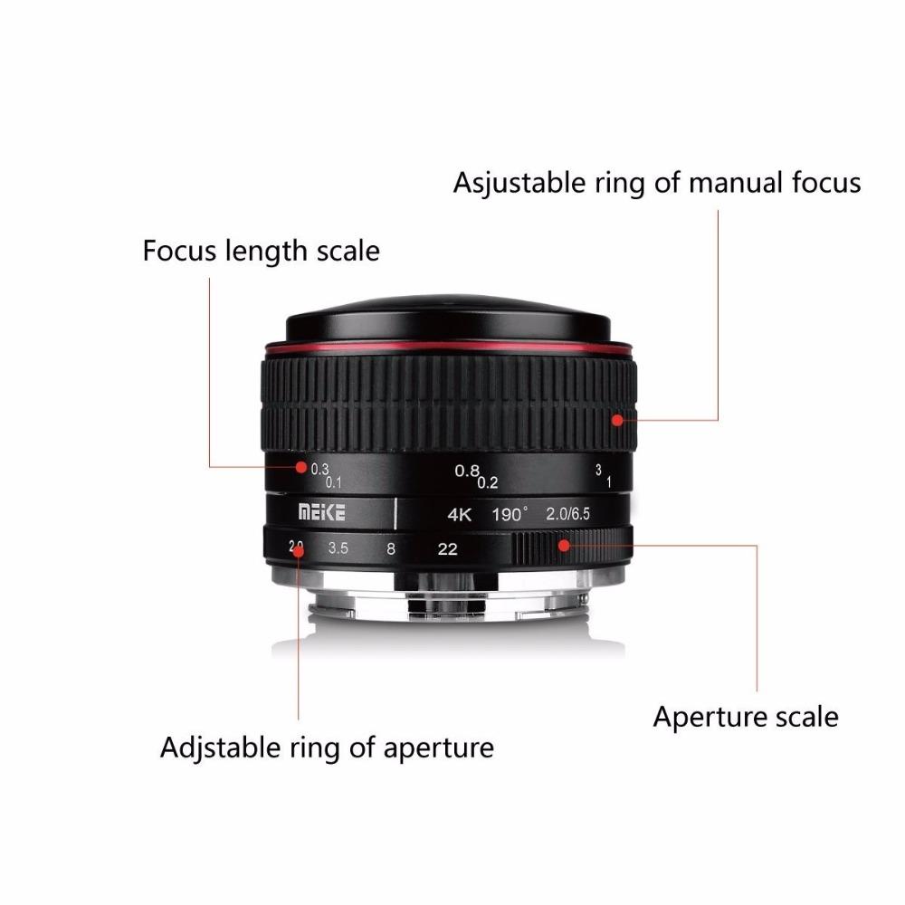 MEIKE MK65mm F20 Fisheye Lens for the Fujifilm XMount Camera XT10 to Camera Lenes