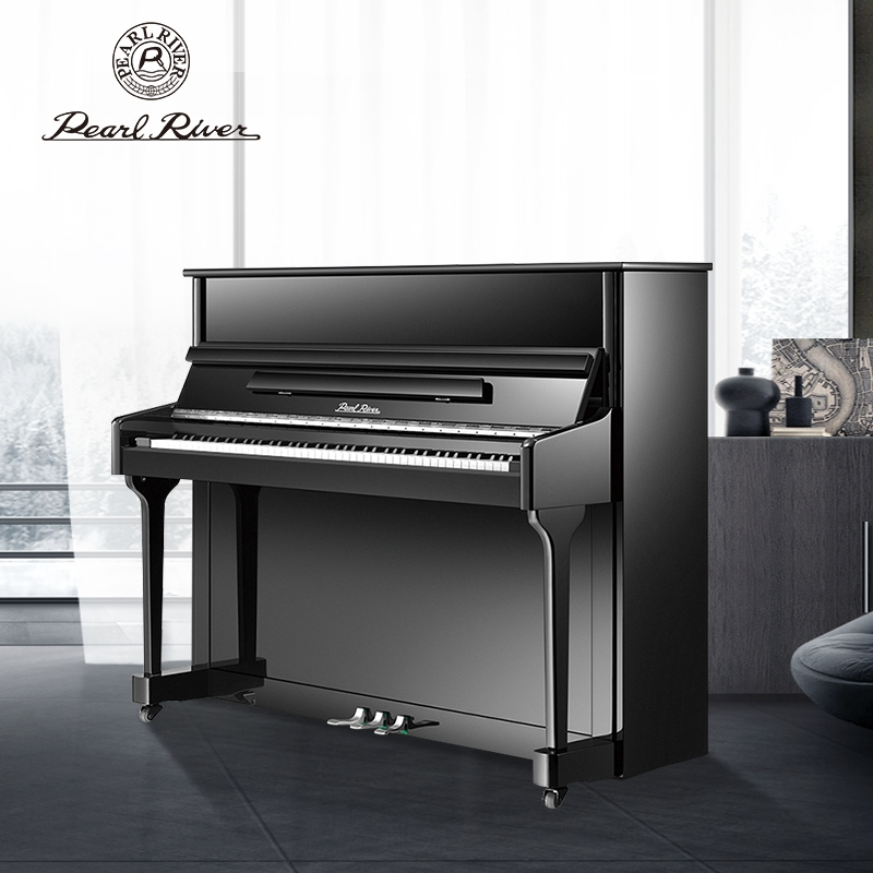 Pearl river piano 118F1 upright piano brand new genuine home professional real steel beginner grading teaching