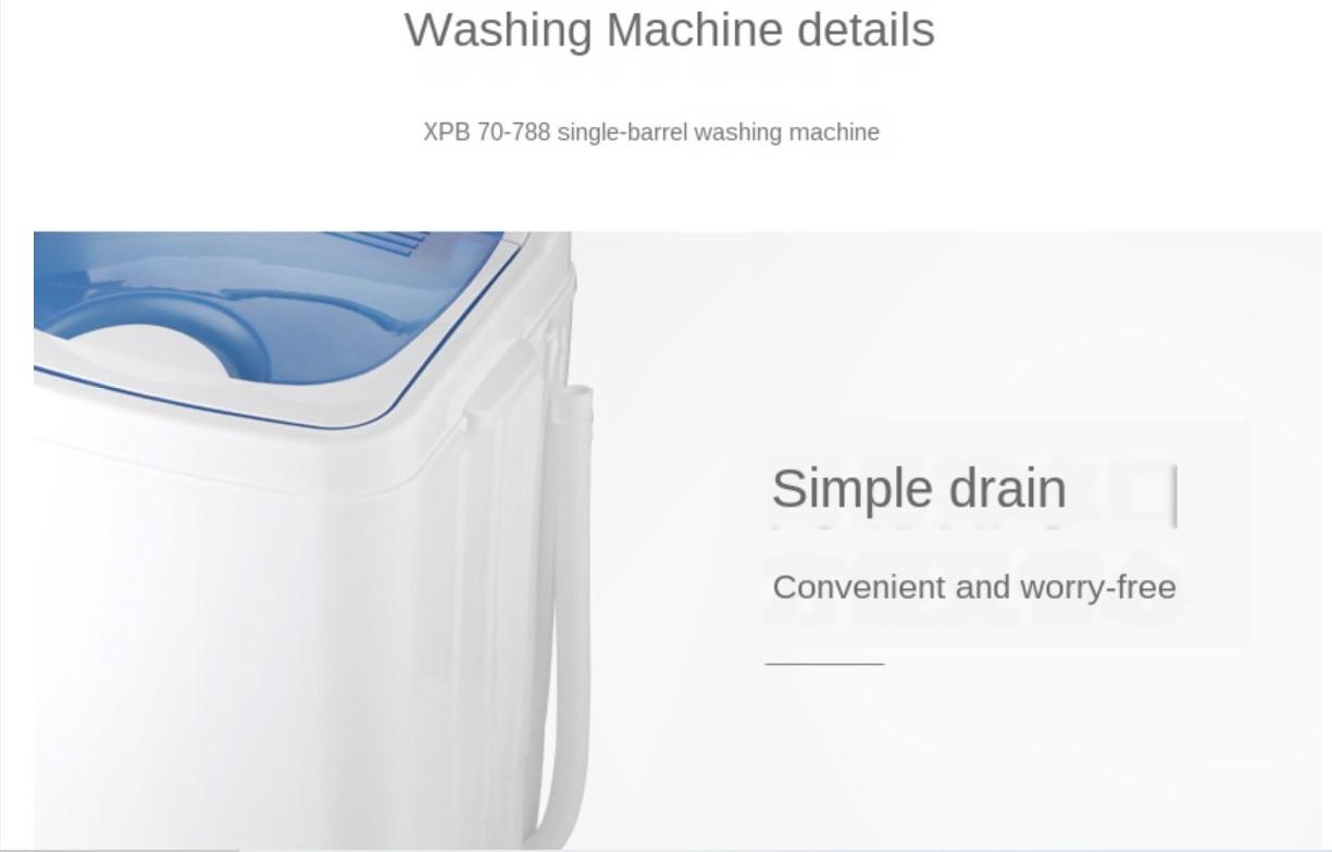 70 Kg Household Single Barrel Mini Washing Machine Washer Dryer Washing Machine