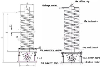 Vertical Vibrating Conveyor Wheat Spiral Conveyor