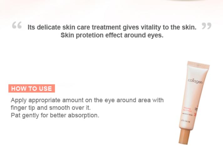 BEILA Collagen Nutrition Eye Cream 25ml Care Anti Dark Circle Moisturizing Firming Eye Cream