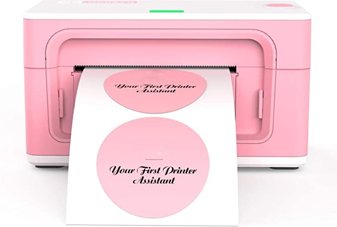 Pink Label Printer USB Label Printer Maker for Shipping Packages Labels 4x6 Thermal Printer for Home Business