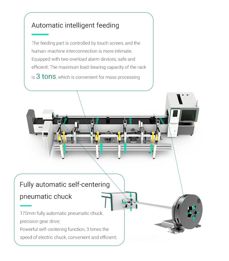 fiber laser cutting machine for tube metal cutting
