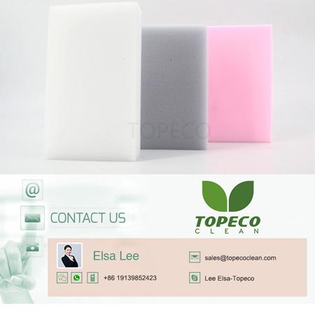 Topeco new products compressed sponge best selling dishwashing melamine sponge