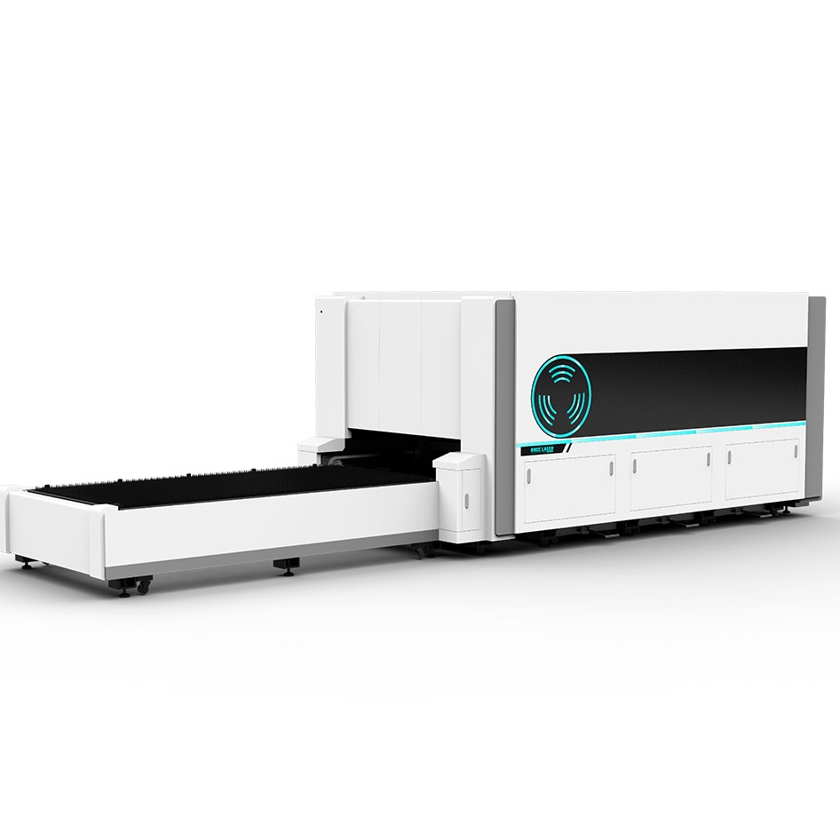 flate fiber laser cutting machine with protective shell