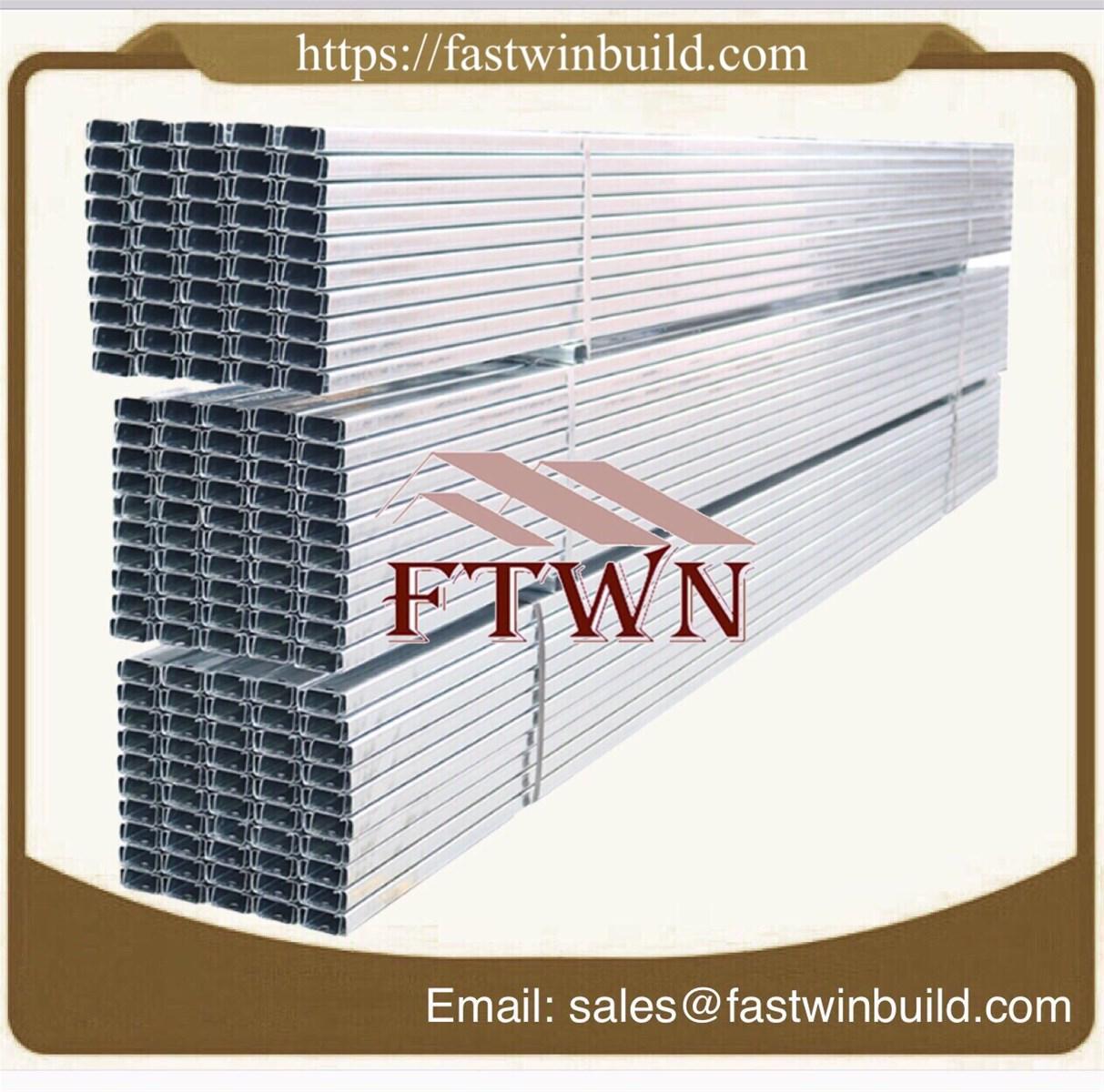 Dywall C Channel Galvanized Light Steel Keel Metal Profiles Frame Stud Track
