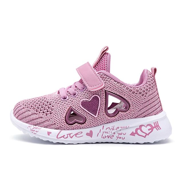 2021 Girls Casual Shoes Light Mesh Sneakers Kids Summer Children Fashion Tenis Cute Sport Cartoon Female Running Sock Fo