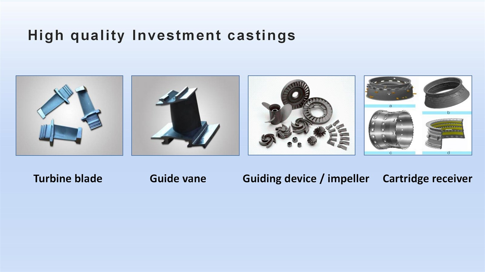 high precision investment castings