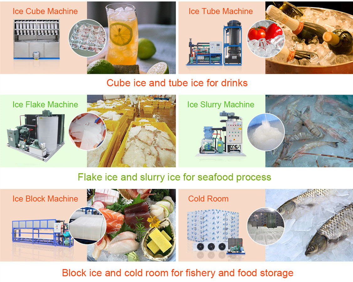 meat products processing cooling 4T 5T 8T water cooling flake ice machine with ice storage room