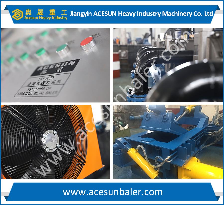 automatic waste iron baler machine