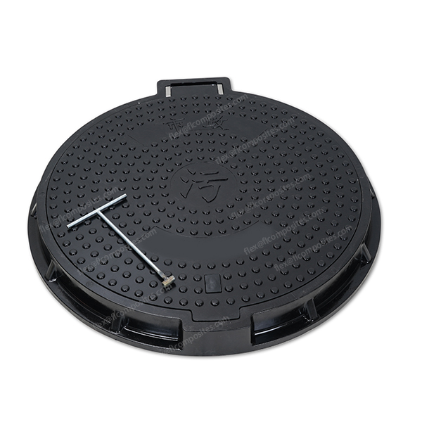 Special locking system manhole cover 120 degree opening design EN124 D400 CLSS