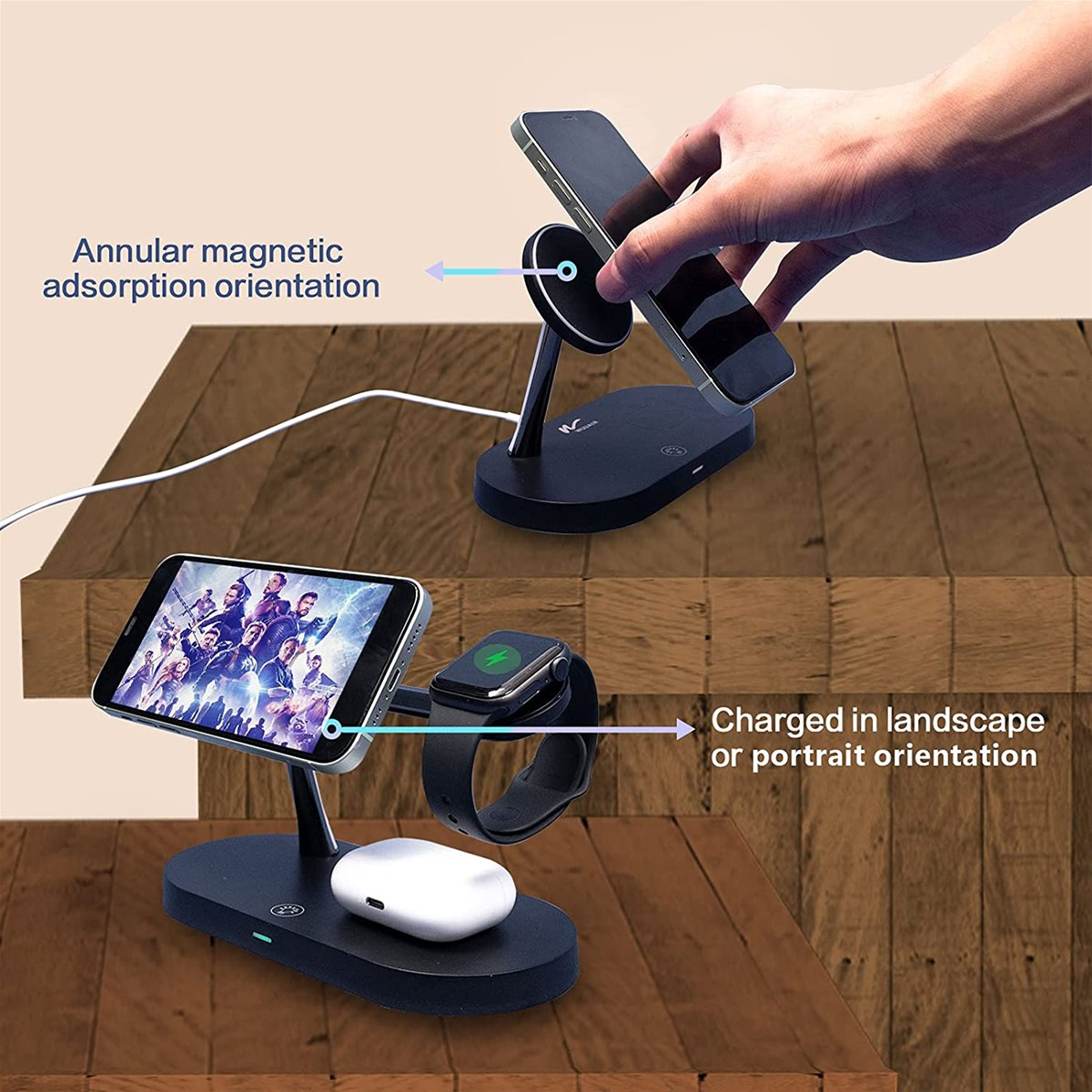 3 in 1 Magnetic Fast Multiple Devices Wireless Charger