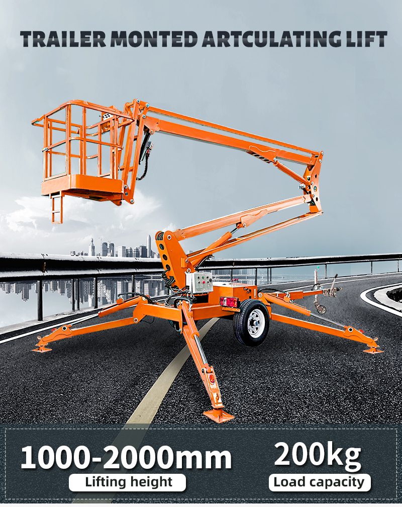 Aerial Work Towable Articulated Telescopic Cherry Picker Spider Boom Lift