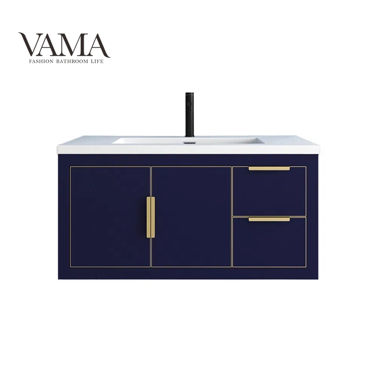 Vama 36 Inch Cheap Wholesale Solid Wood Floating Bathroom Vanity Cabinet with Factory Price BT00436