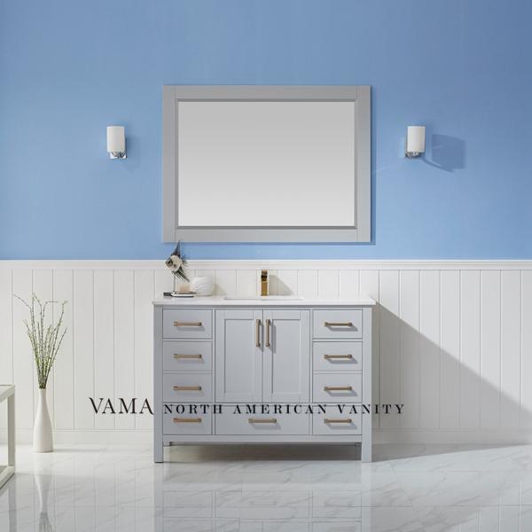 Vama 48 Inch Allan Roth Solid Wood Bathroom Cabinet Bathroom Vanity 785048