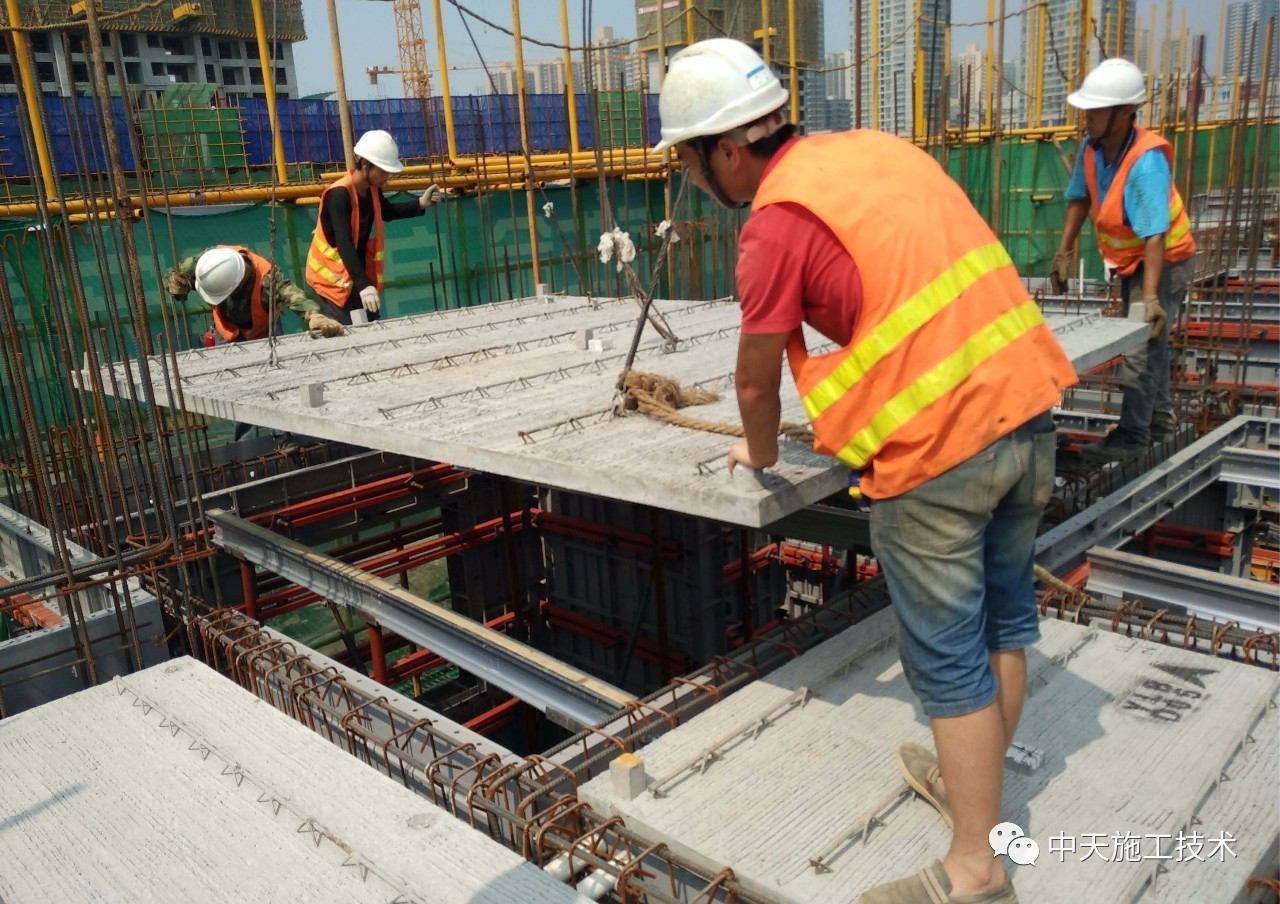 Steel truss precast concrete slab lattice girder
